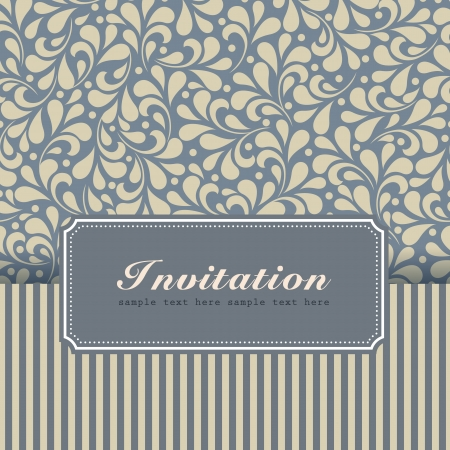 Vintage card with floral ornament design  Perfect as invitation or announcement   Vector