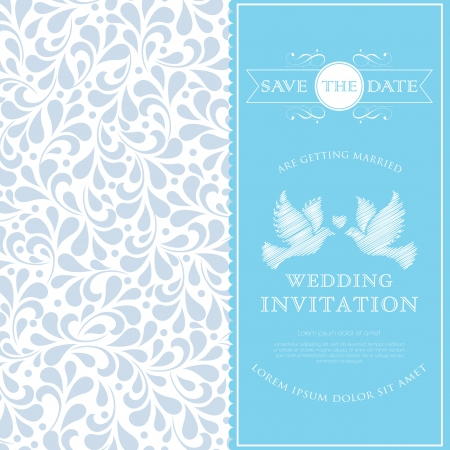 Anniversary card with floral ornament design  Perfect as invitation or announcement   Vector