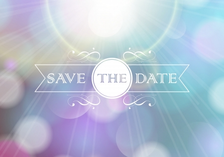 save the date: Invitation card   Perfect as invitation or announcement