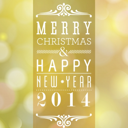 Merry Christmas and Happy New Year card design  Perfect as invitation or announcement Stock Vector - 22489232