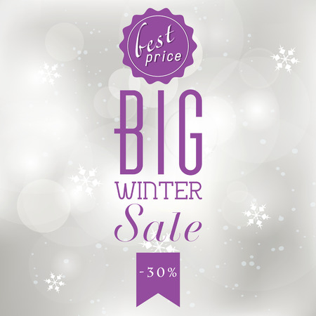 shere: Winter sale poster with glittery lights silver abstract Christmas background