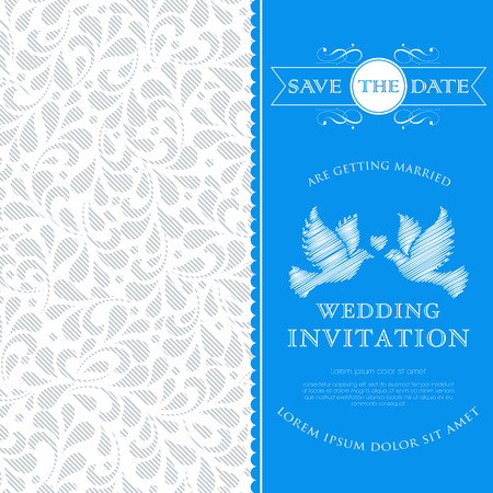 flower vines: Wedding card or invitation with floral ornament background  Perfect as invitation or announcement