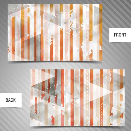 businesscard: Modern abstract business-card set  Illustration