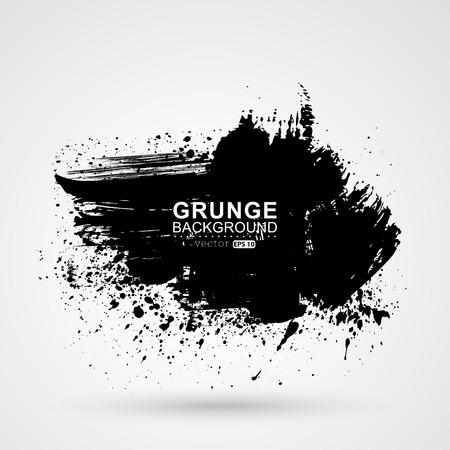 Figured brush strokes brush and ink  Illustration
