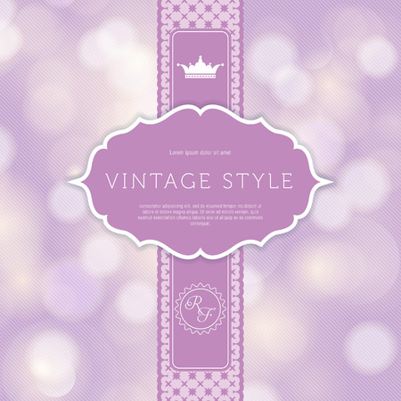 Vintage styled card with floral ornament design  Perfect as invitation or announcement  Vector