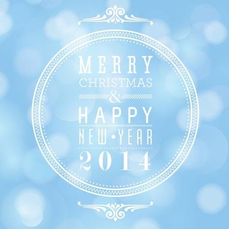 Merry Christmas and Happy New Year card design  Perfect as invitation or announcement