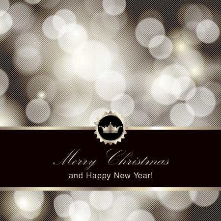 elegante: Buon Natale e Felice Anno Nuovo design della carta. Perfetto come invito o annuncio.