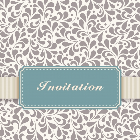 Vintage card with floral ornament design. Perfect as invitation or announcement. Vector