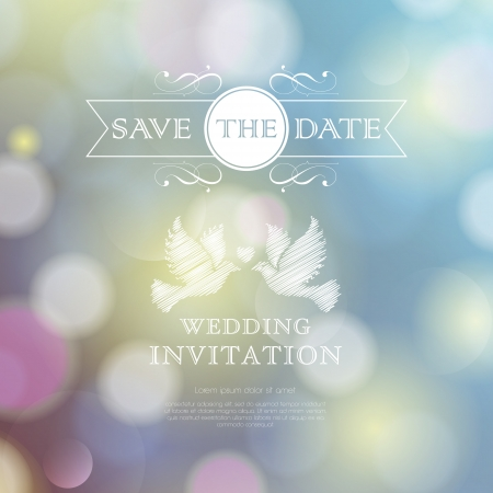 Wedding invitation card. Perfect as invitation or announcement. Stock Illustratie