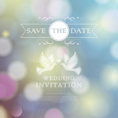 Wedding invitation card. Perfect as invitation or announcement. Illustration