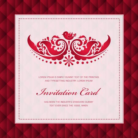 Elegant greeting card. Perfect as invitation or announcement. Vector