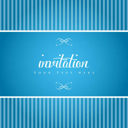 Elegant invitation card. Vector