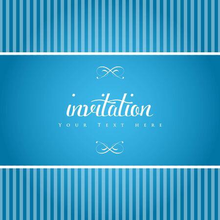 Elegant invitation card. Vector