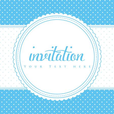 Retro invitation card.