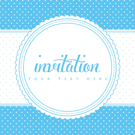 Retro invitation card. Vector