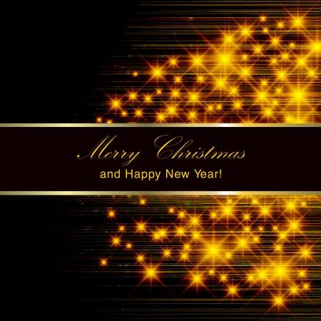 Flickering lights - Christmas invitation card.