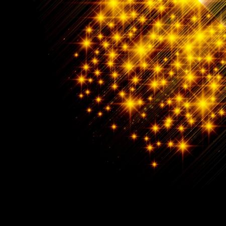 flickering: Flickering lights - Christmas background. Illustration