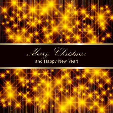 flickering: Flickering lights - Christmas invitation card.