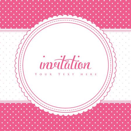 Retro invitation card. Vector