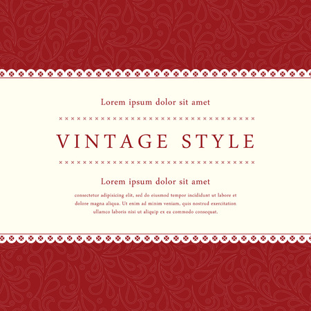 Ornate damask background. Perfect as invitation or announcement.