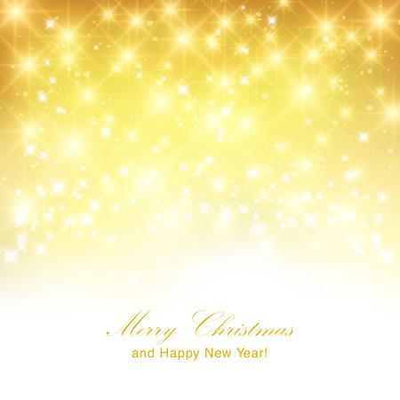 Oro scintillante sfondo di Natale con posto per il nuovo testo di invito anno.