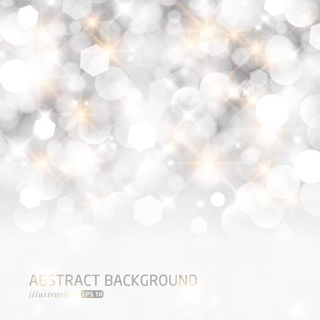キラキラ ライト シルバー クリスマスの抽象的な背景です。