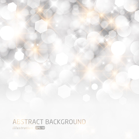Glittery lights silver abstract Christmas background. Reklamní fotografie - 23527834