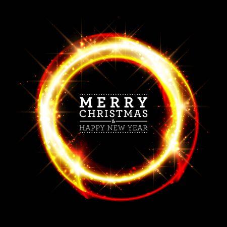 Elegant glittery lights Christmas poster design template.