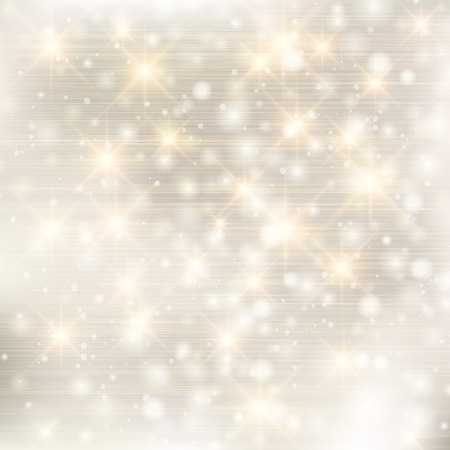 Elegant glittery Christmas background with stars and twinkly lights. Vector