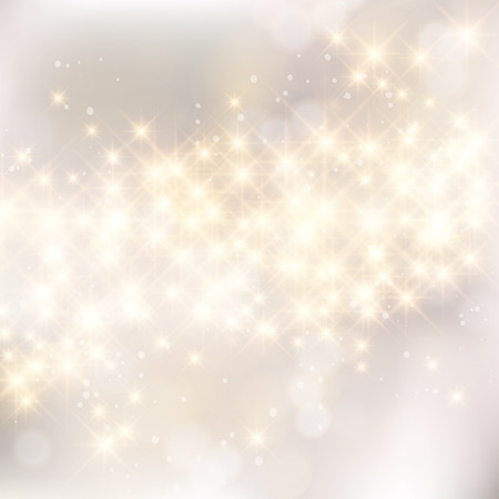 Elegant glittery Christmas background with stars and twinkly lights.