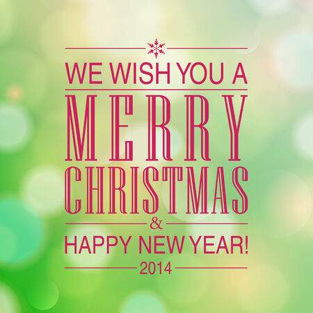 Merry Christmas and Happy New Year card design. Stock Vector - 23768385