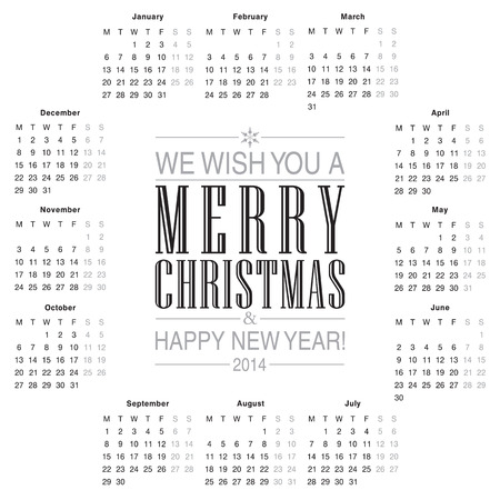 Calendar 2014 Template Design Royalty Free Cliparts Vectors And
