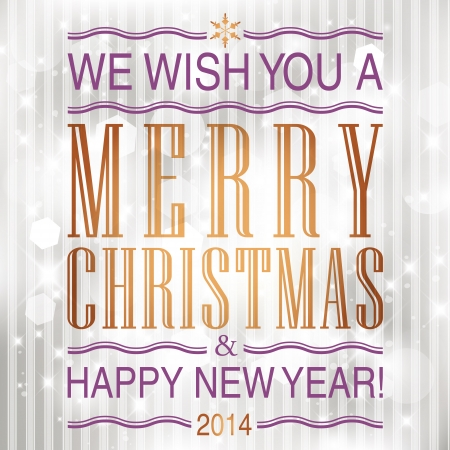 Merry Christmas and Happy New Year card design. Stock Vector - 23768387