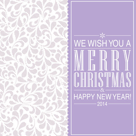 Merry Christmas and Happy New Year card design.   Vector