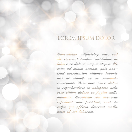 glittery: Glittery lights silver abstract Christmas background. Illustration