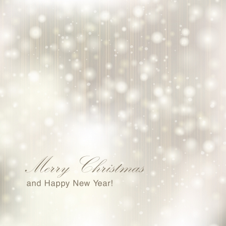 Glittery lights silver abstract Christmas background. Stock Vector - 23768396