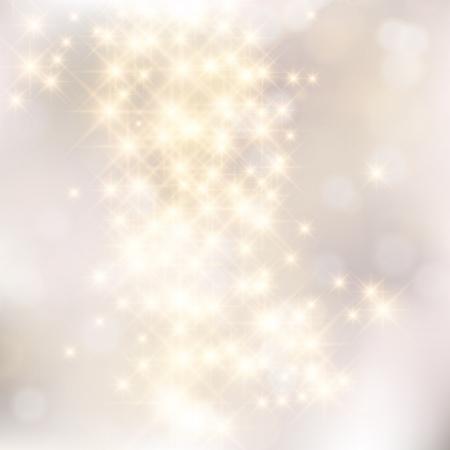 Glinsterende lichten zilveren abstracte achtergrond van Kerstmis.