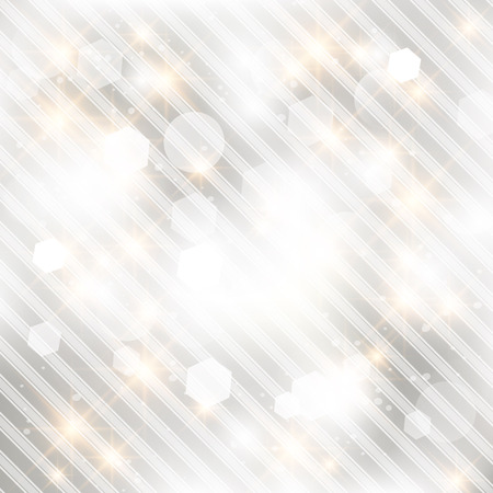 Glittery lights silver abstract Christmas background. Stock Vector - 23768464