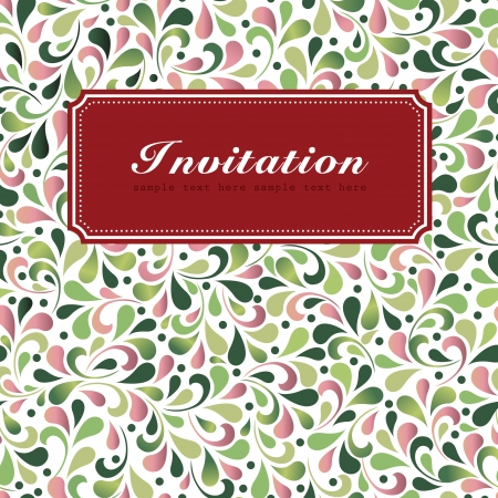 Vintage styled card with floral ornament background Stock Vector - 23768469