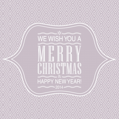 Letterpress Merry Christmas card. Vector