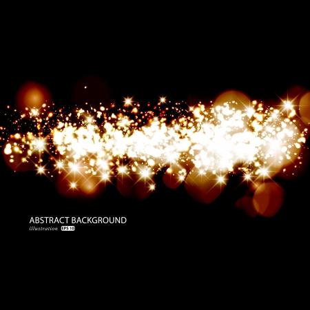solemn: Luces relucientes de oro Fondo de Navidad abstracto.