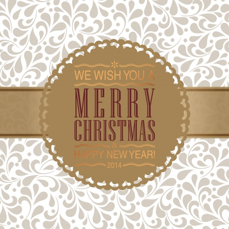 Ornate frame for Christmas invitation card.   Vector