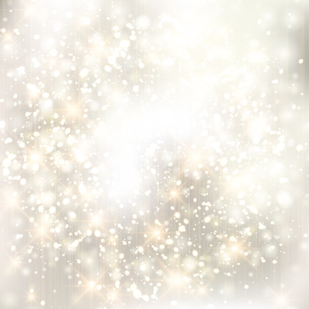 Glittery lights silver abstract Christmas background. Stock Vector - 23768582