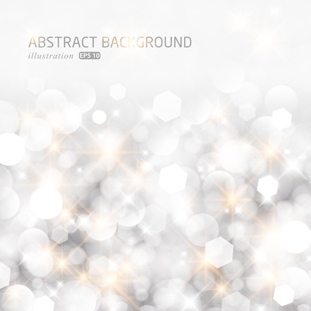 きらびやかなライト シルバー抽象的なクリスマス背景。