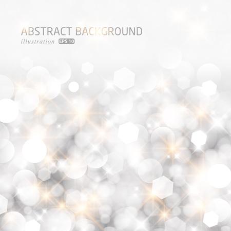 elegante: Luci glitterato argento astratto Natale sfondo.