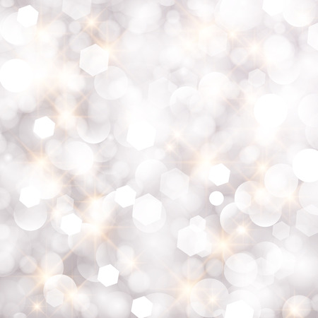 Glittery lights silver abstract Christmas background. Ilustrace