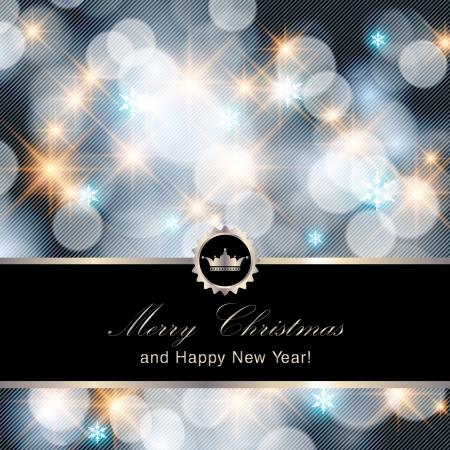 Vrolijk Kerstfeest en Gelukkig Nieuwjaar kaart ontwerpen. Perfect als uitnodiging of aankondiging. Stockfoto - 23754461