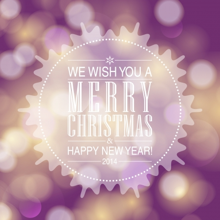 Merry Christmas and Happy New Year card design. Perfect as invitation or announcement. Stock Vector - 23754460