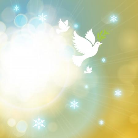 paloma de la paz: Vacaciones de fondo elegante.