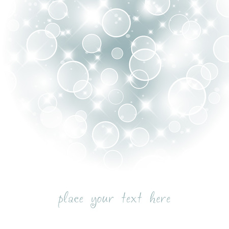 Glittery lights silver abstract Holiday background. For vector version, see my portfolio. Stock Vector - 23754669